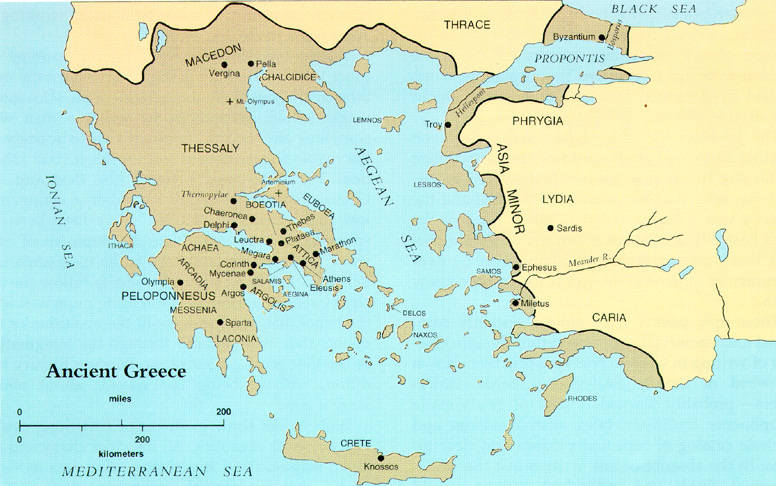 Map of ancient Greece (Click for larger image)