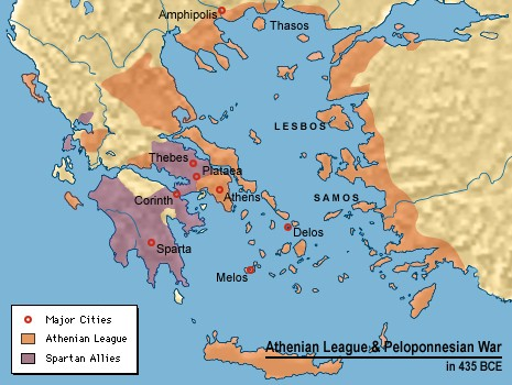 athenian idol alcibiades and the sicilian expedition spartan and athenian allies in mainland and the aegean during the peloponnesian war click for larger